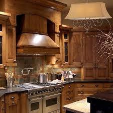 craftsman kitchen lighting. Craftsman Style Kitchen With Wood Range Hood Lighting