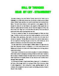 roll of thunder hear my cry strawberry gcse english marked  page 1 zoom in