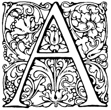 Small Picture Detailed Letter Coloring Pages Get Coloring Pages