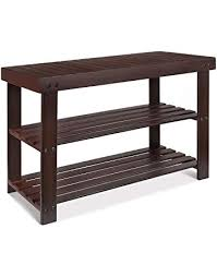 Entry benches shoe storage Small Entryway Homfa Bamboo Shoe Bench Tier Shoe Rack Organizer Entryway Shoe Storageretro Color Owlmaninfo Storage Benches Amazoncom