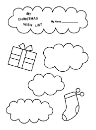 Christmas List Coloring Page Kids Pinterest Printable Cialisvbsinfo