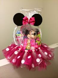 minnie mouse basket with tulle the ultimate list of minnie mouse craft ideas party