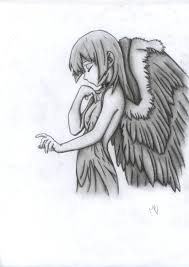 Angel Sketch Sad Angel Sketch At Paintingvalley Com Explore Collection