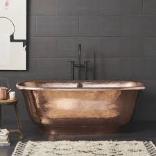 santorini freestanding bathtub in polished copper cps944