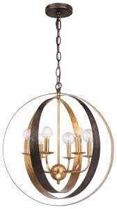 6 light english bronze antique gold industrial chandelier 585 eb ga elite fixtures