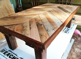 Heres a coffee table I built using wood from a pallet. I stained the