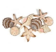 Wall Sculptures Seashell Collection Wooden Wall Sculpture Nautical Decor