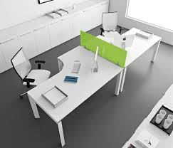 beautiful modern office desk cool white and black themed modern