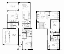 most inspiring 4 bedroom house floor plans 3d fresh house plan 4 bedroom 2 story 4