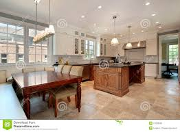 Kitchen Eating Area Kitchen With Eating Area And Bench Royalty Free Stock Photo