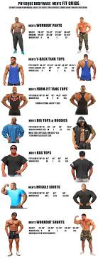 Mens Size Chart Physique Bodyware Workout And Bodybuilding