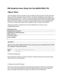 Free Case Study Templates Format Examples Sample Apa