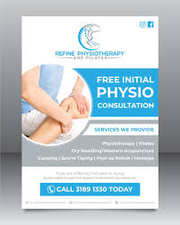 Physiotherapy Leaflet Design Promotional Flyer For Physiotherapy Clinic Freelancer