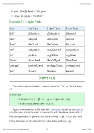 Simple English Grammar Tenses Chart Verb Tenses In Tamil