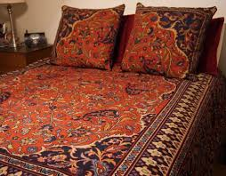 image of ralph lauren paisley bedding orange