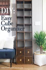 how to make a custom diy cube organizer