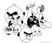 Small Picture ANGRY BIRDS COLORING Pages Free Download Printable