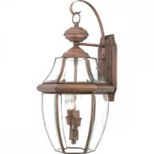 Large Outdoor Wall Lights Newbury Large Outdoor Wall Lantern In Aged Copper