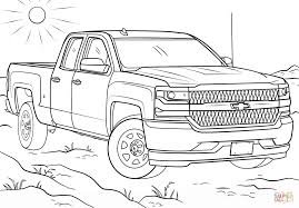 2016 chevy silverado double cab coloring page