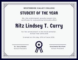 Free Award Certificate Templates For Students Customize 90 Student Certificate Templates Online Canva