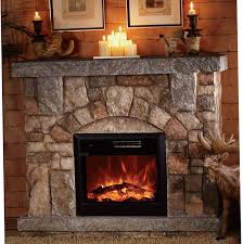 stone look fireplace electric fireplace stone look home design ideas
