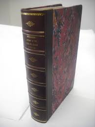 3 4 leather binding with french marble sides and raised bands