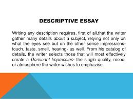 academic writing 34 descriptive essay