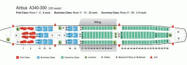 Airbus A340 Jet Seating Chart A340 Seating Chart Air France Best Picture Of Chart