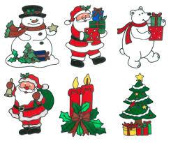 Magicgel 6er Set Fensterbilder Weihnachten Mittel Weihnachtsbaum Kerzengesteck Eisbär 2 X Nikolaus Schneemann