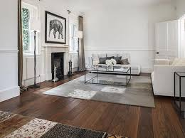 Wood flooring ideas for living room Furniture Walnut Floor Warm And Solid Underfoot For Traditional Interior Rilane Living Room Flooring Useful Solutions And Superb Design Ideas Rilane