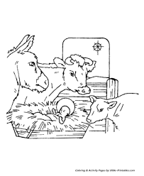 Small Picture The Christmas Story Coloring Pages Jesus in the manger