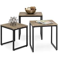 nesting end tables. Best Choice Products 3-Piece Modern Lightweight Stackable Nesting Coffee Accent End Table Living Room Tables
