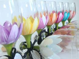 bridal party hand painted wine gl perfect for a party