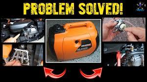 Generac Ix2000 Overload Light Stays On Generac Inverter Generator Troubleshooting Repair Iq2000