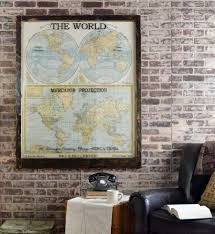 office world map. Large Antique World Map Wall Artwork Office O