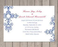 fourth of july wedding invitations. blue and red vintage wedding invitation fourth of july invitations t