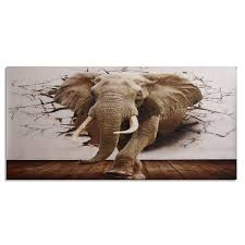 Ramie 3d Large Elephant Wall Paper Non Woven Roll Muurposters Home