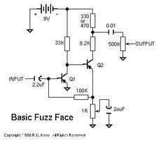 pin by Łukasz warguła on guitar effects fuzz face circuit diagram