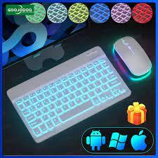 Bàn phím bluetooth không dây goojodoq màu trơn dành cho iphone/ipad (kèm bàn  di chuột cảm ứng) - Sắp xếp theo liên quan sản phẩm