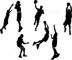 イラスト スポーツ シルエット バスケットボール イラスト素材 417711