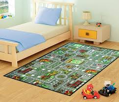 kids childrens city village road rugs rug mat in modern design for play mat