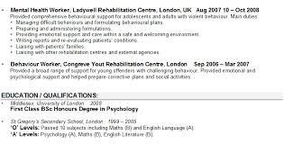 Gallery Of Psychologist Resume Sle By Exles Of Resumes Professional