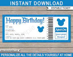 Disneyland tickets, Disney trip surprise