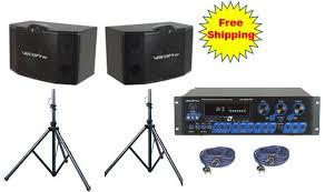 Description (in author's own words): Vocopro Asp 3808 Ii 300 Wattl Pro Digital Mixing Amplifier With Vocopro Sv 500 10 3 Way 500 Watt Vocal Speakers With Speaker Stands