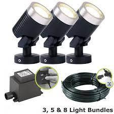 techmar arcus garden led spotlight kit