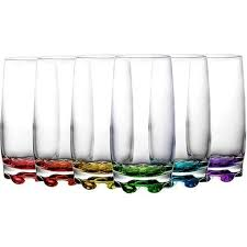 gurallar adora colored tumblers long drink glasses juice water set of 6 gift boxed highball glasses thecuisinet com