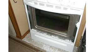 whirlpool oven door glass shattered during self clean replacement