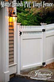 illusions vinyl fence new ideas gorgeous white matte finish and matching gates from dealers e28