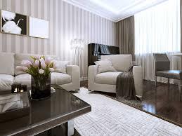 striped living room