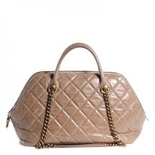 CHANEL Calfskin Quilted Castle Rock Bowling Bag Grey 126140 &  Adamdwight.com
